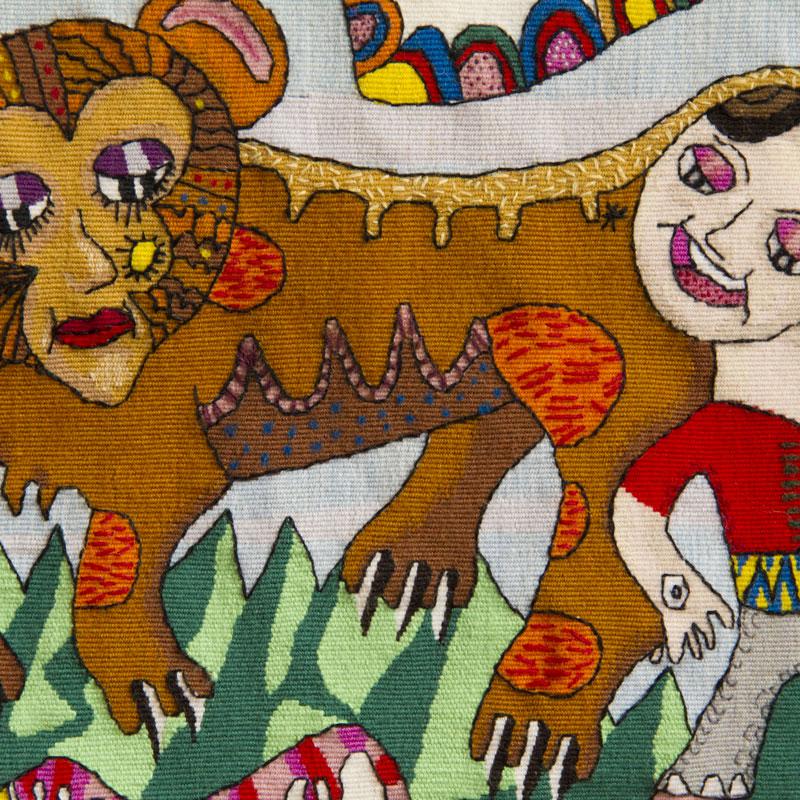 Tapisserie Petite Fille Et Son Tigre